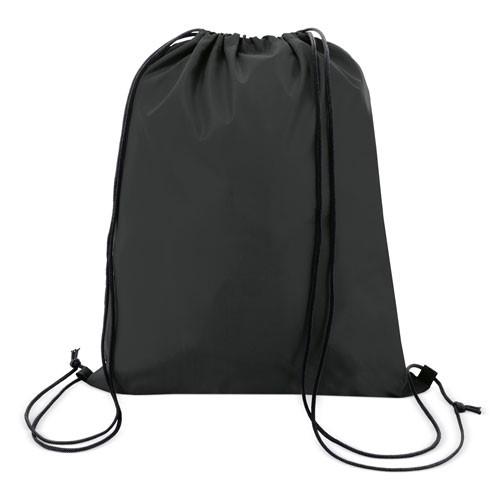 black color polyester drawstring bag