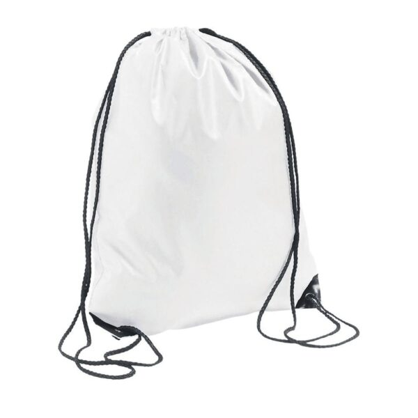 white color polyester drawstring bag