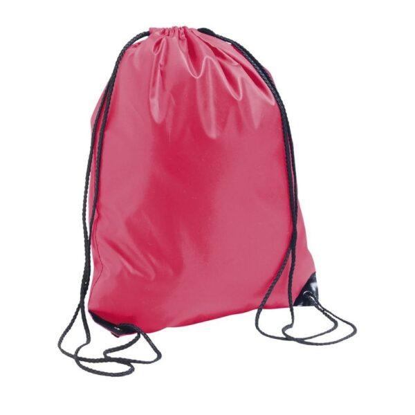 coral color polyester drawstring bag