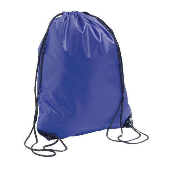 blue color polyester drawstring bag