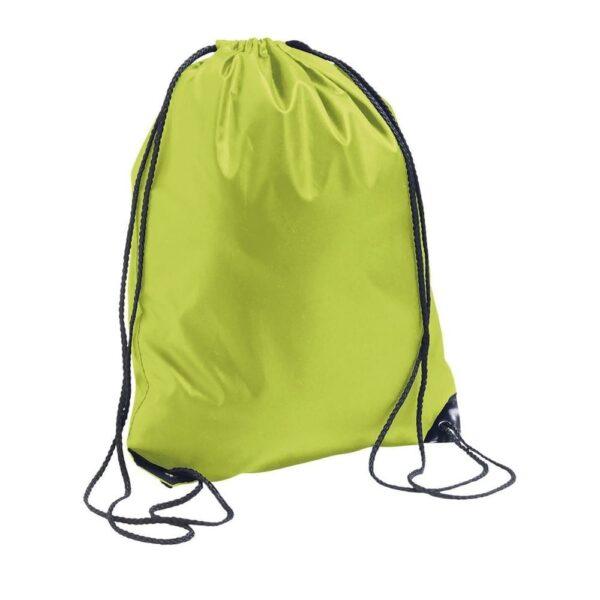 apple green color polyester drawstring bag