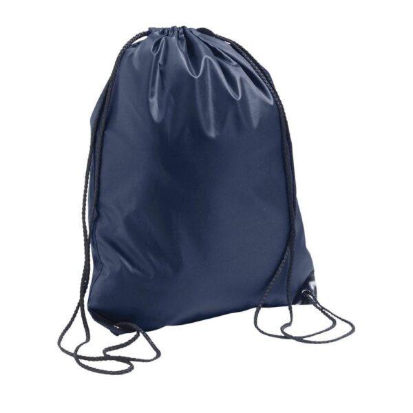 dark blue color polyester drawstring bag