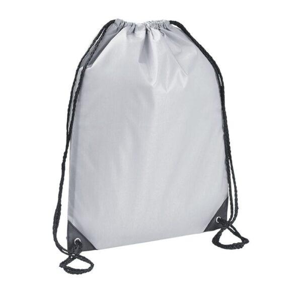 light grey color polyester drawstring bag