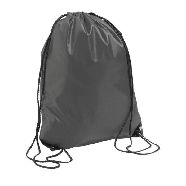 grey color polyester drawstring bag