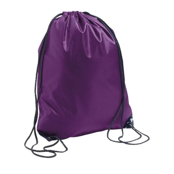 purple color polyester drawstring bag