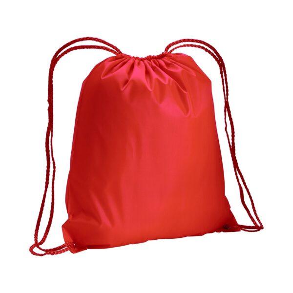 red color polyester drawstring bag