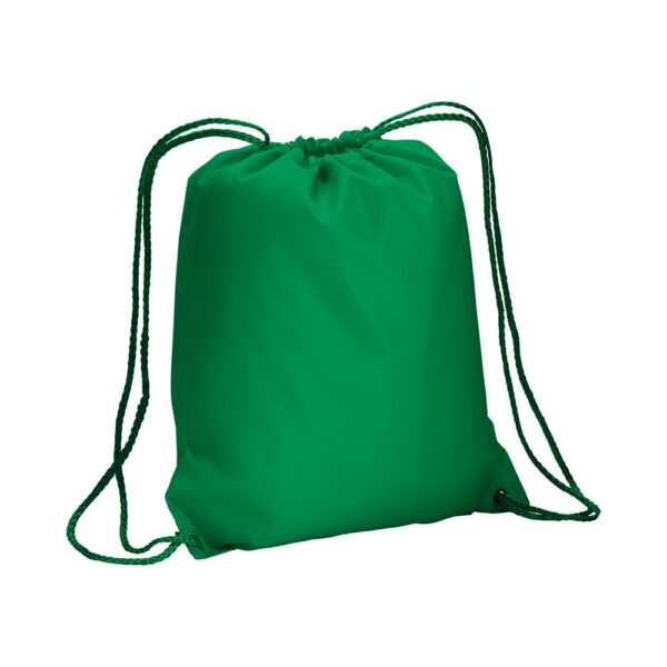 green color polyester drawstring bag
