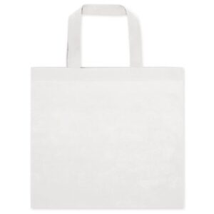 white color non woven bag with short handles