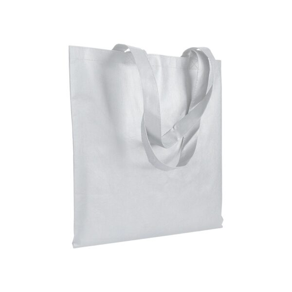white color non woven bag with long handles