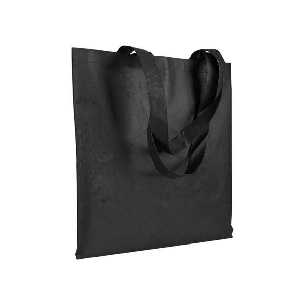 black color non woven bag with long handles