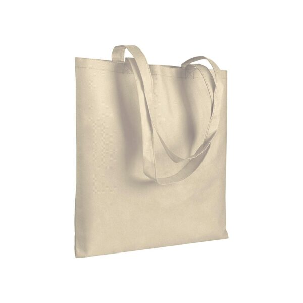 natural color non woven bag with long handles