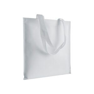 white color non woven bag with long handles