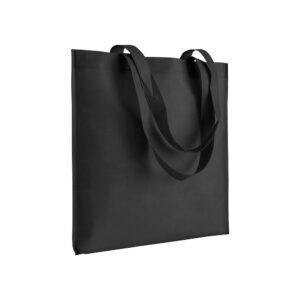 black color non woven bag with long handles