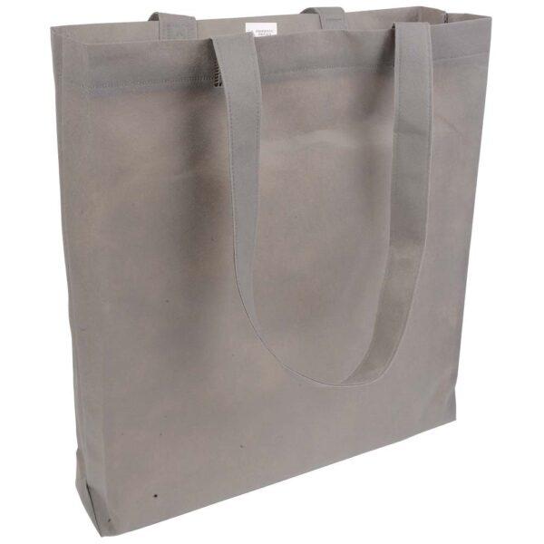 grey color non woven bag with long handles