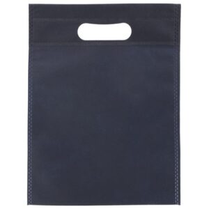 dark blue color non woven bag with d cut handles