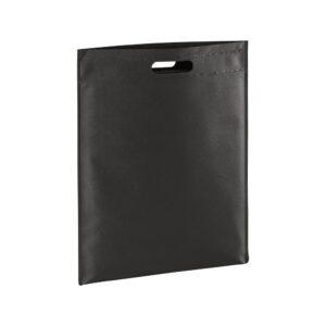 black color non woven bag with d cut handles