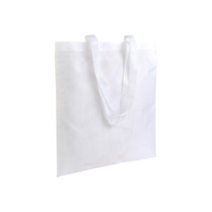 white color polyester bag with long handles