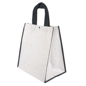 white color pp woven bag with short handles