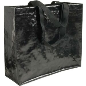 black color pp woven bag with short handles