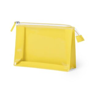 yellow color beauty bag