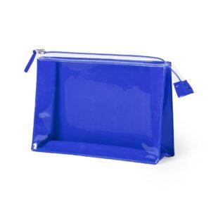 blue color beauty bag