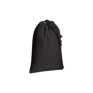 black color cotton pouch with two strings